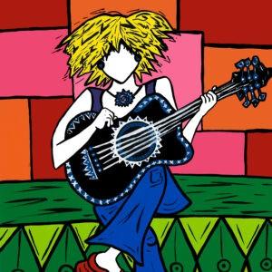 Guitar Girl Print
