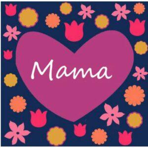 Mama Floral Print