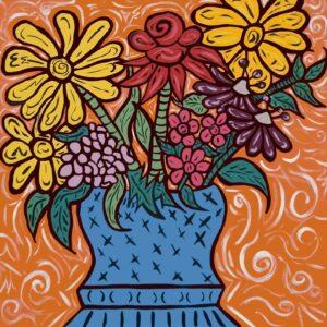 Stephanie's Flowers Print