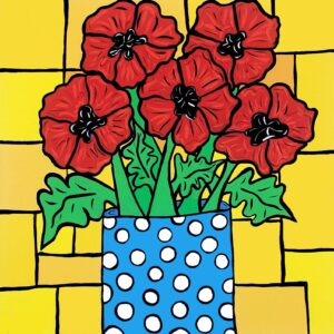 Polka Dot Poppies Print