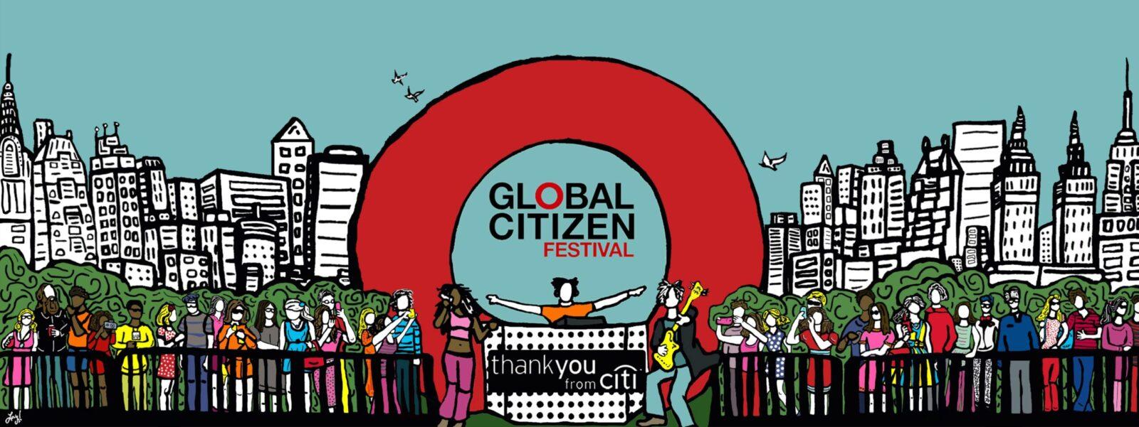 Loving Artwork Commissioned for Global Citizen Festival