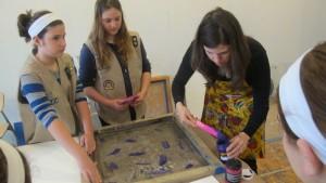 The Girl Scouts Visit Studio Laura Loving