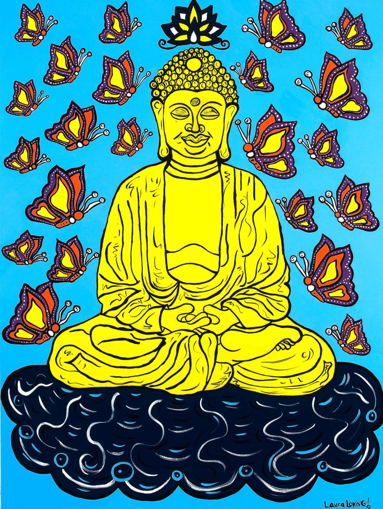 Buddha and the Butterflies (Color)