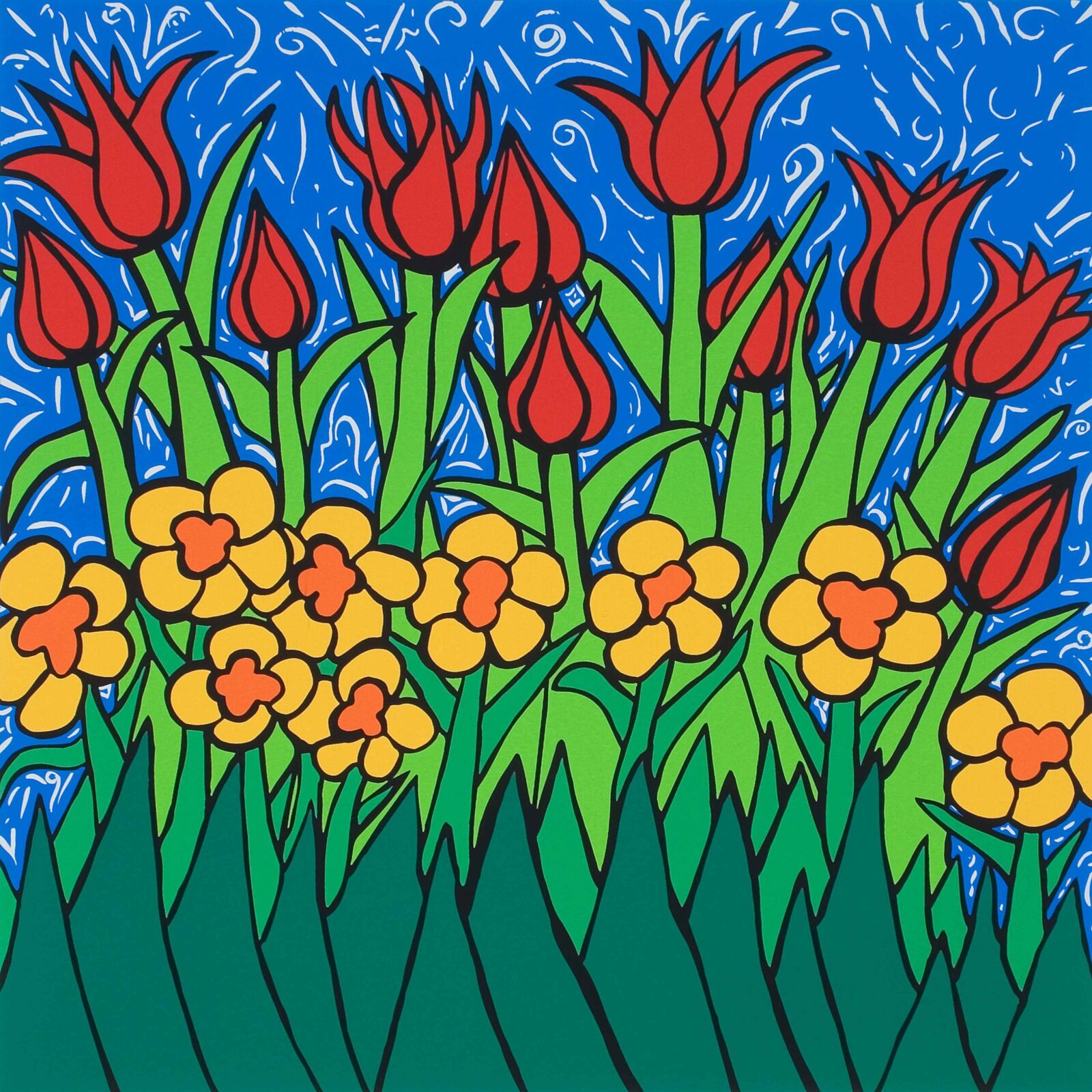 Queen of the Tulips Serigraph