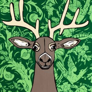Going Stag (Emerald) Print