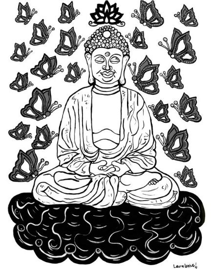 Buddha (Black and White)