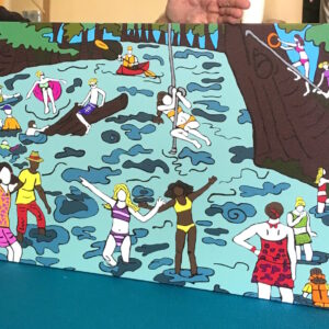 The Swimming Hole Print
