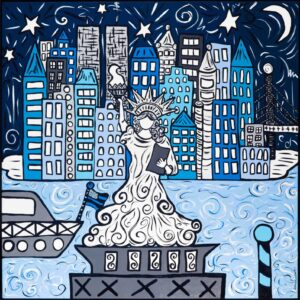 Blue Lights, Big City Print