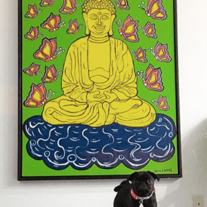 Buddha (Green) Print