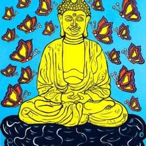 Buddha (Blue) Print