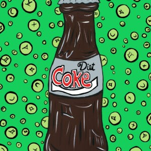Diet Coke (Green) Print