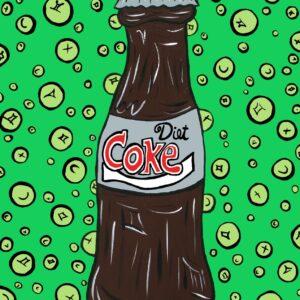 Diet Coke (Green) Print