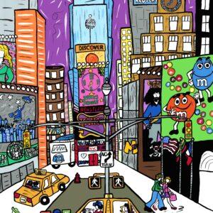 Times Square Print