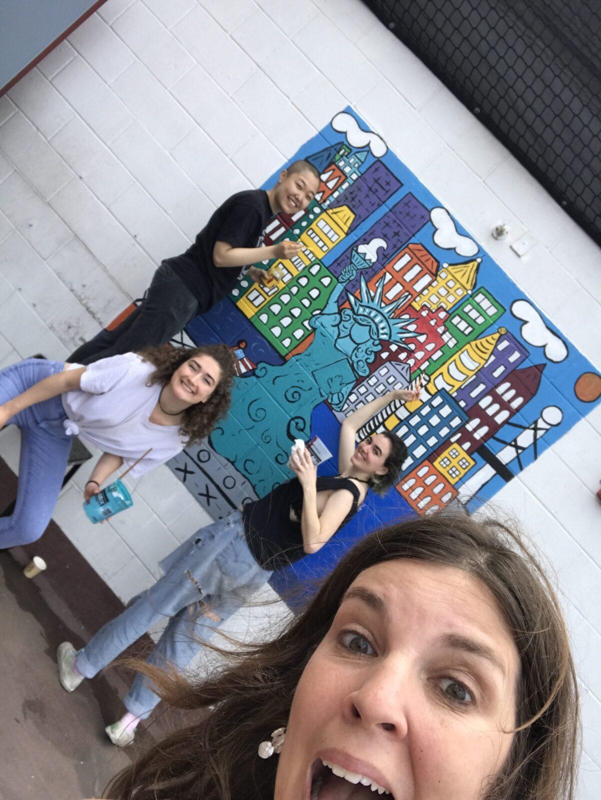 Murals at Tony Dapolito Recreation Center in SOHO