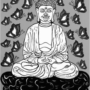 Buddha (grayscale) Print