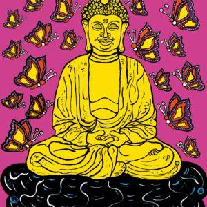 Buddha (Pink) Print