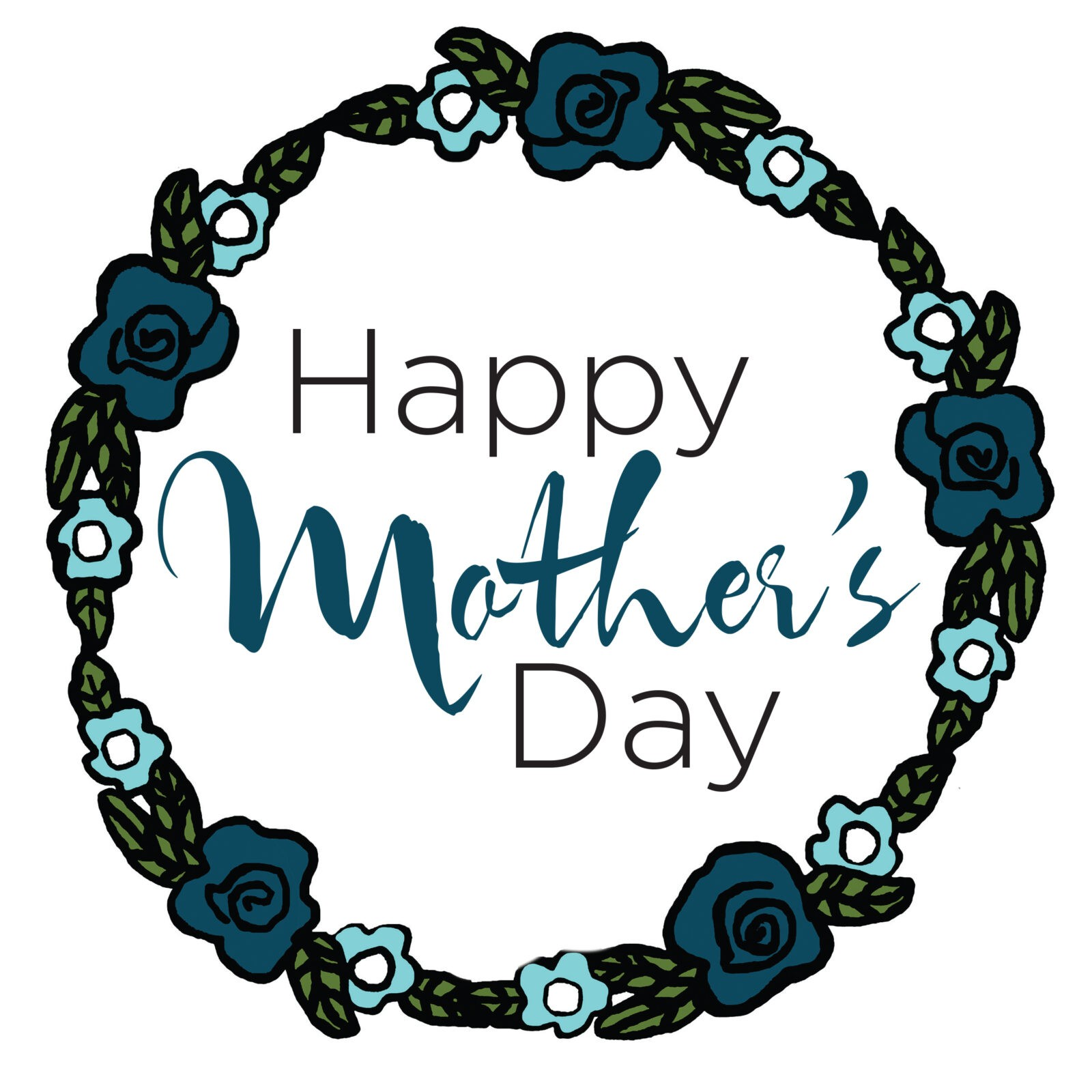 Happy Mother's Day Tile (Blue)