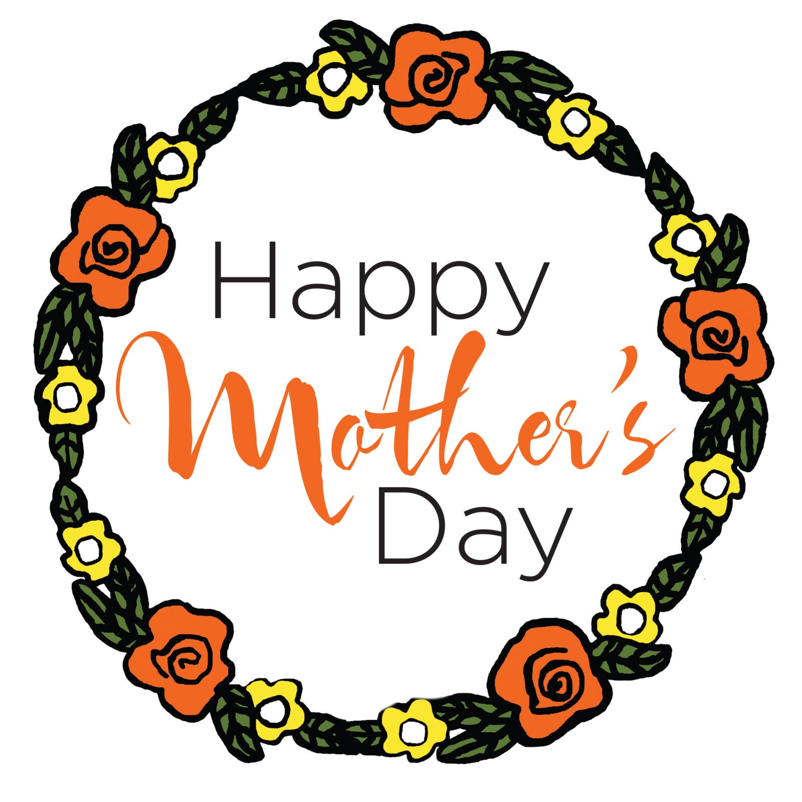 Happy Mother's Day Tile (Orange)
