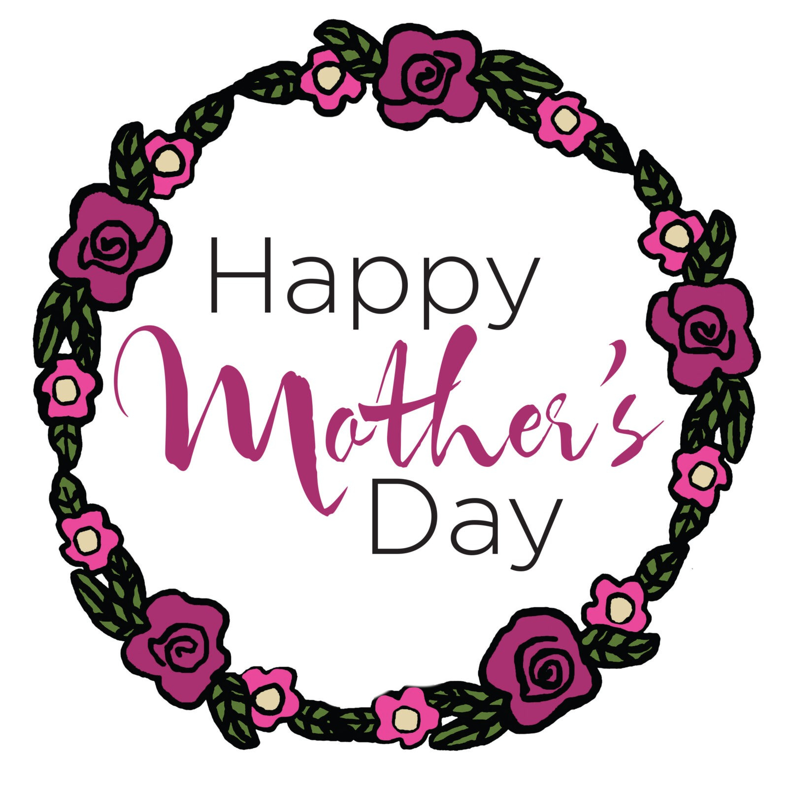 Happy Mother's Day Tile (Pink)