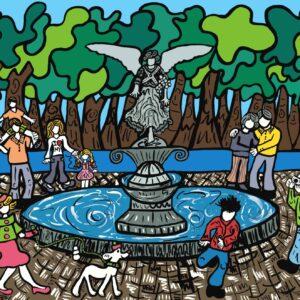 Bethesda Fountain Print