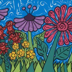 Ed & Wanda's Flower Garden Serigraph