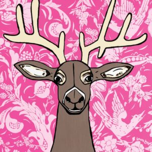 Going Stag (Pink) Print