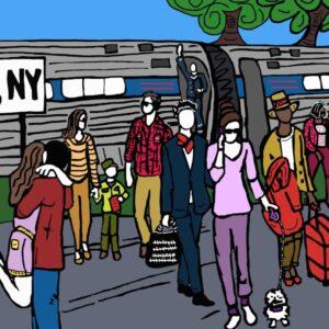Hudson Train Station Print