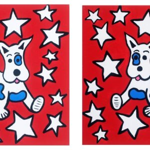 Jack the All American Dog (Red) Print Set
