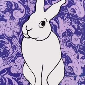 Hare Color (Purple) Print