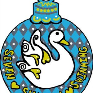 Seven Swans Ornament