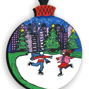 Skaters in Love Ornament