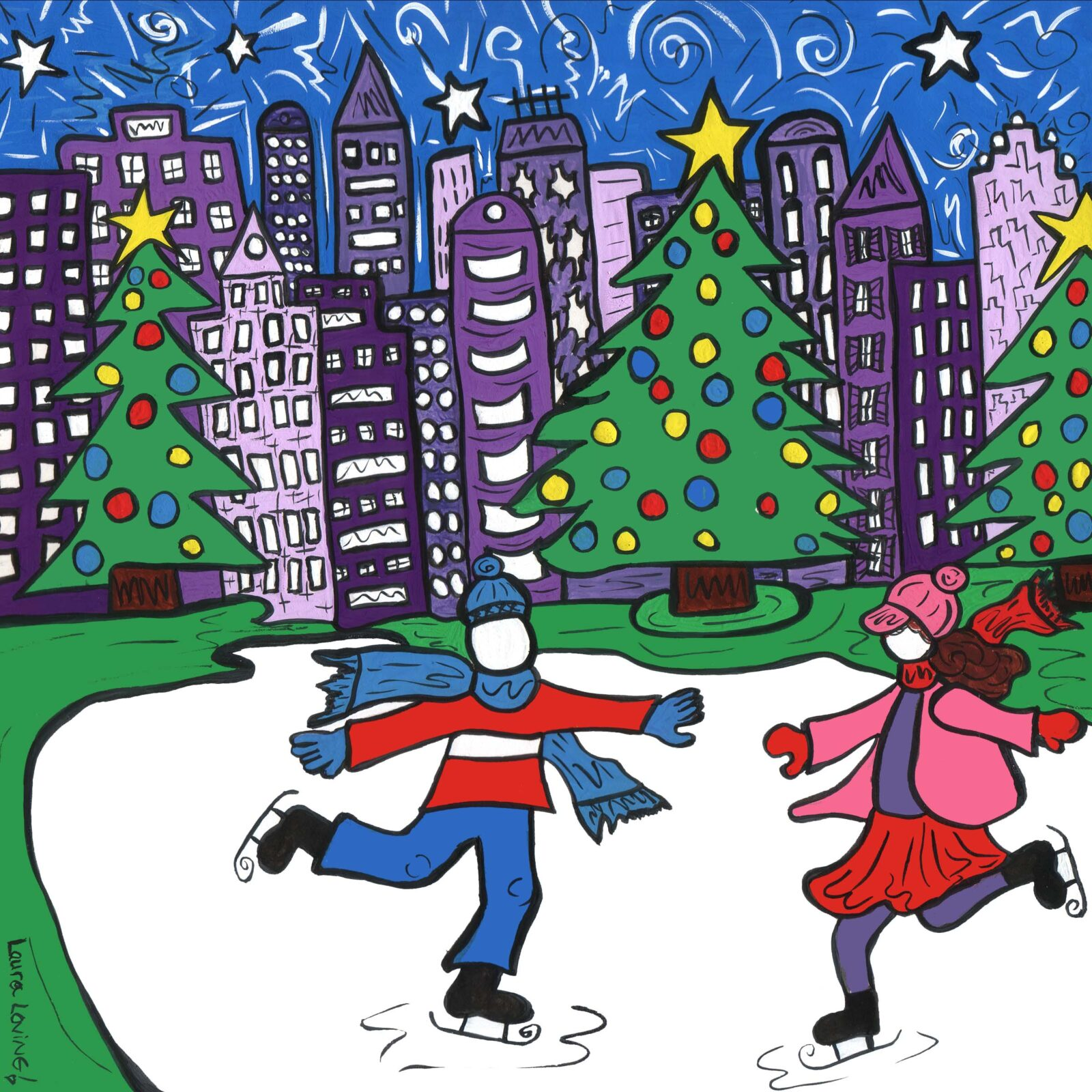 Skating in the Park Print