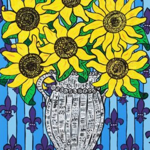 Sunflowers (Blue) Print