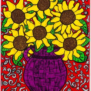 Sunflowers (Red) Print