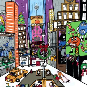 Times Square Holiday Print