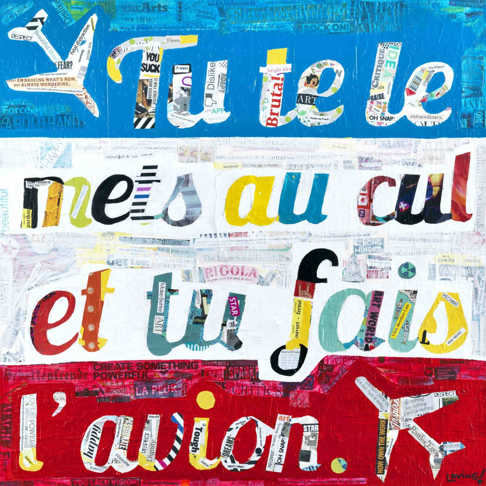 Pardon My French Print
