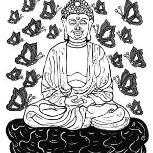 Buddha (b&w) Print