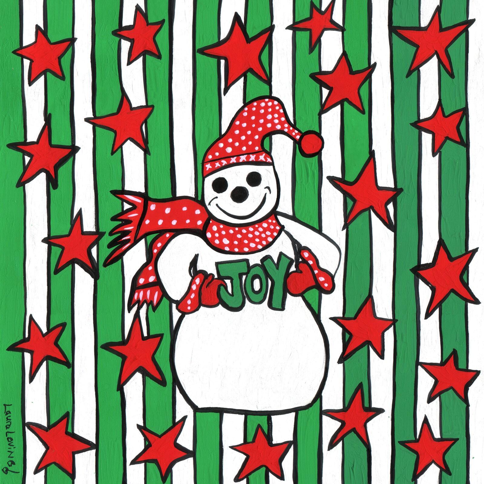 The Joyful Snowman Print